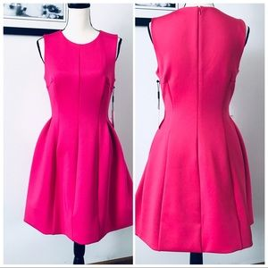 NWT! CALVIN KLEIN MAGENTA PEPLUM SKIRT MIDI DRESS